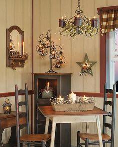Country Primitive Home Decorating - Super Dekoration Primitive Homes, Primitive Kitchen, Primitive Home Decorating, Country Kitchen, Primitive Decor, Primitive Country, Primitive Quilts, Primitive Bedding, Primitive Curtains