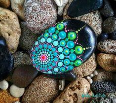 Guijarros pintados colorido arte punto Mandala estilo Natural