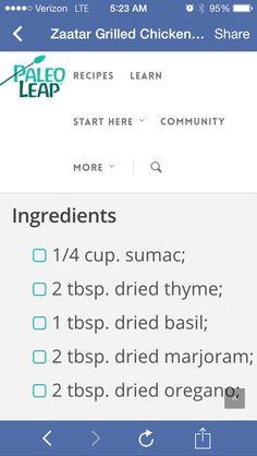 Za'ater recipe
