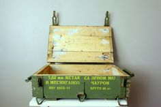 Vintage Soviet Ammo Crate - Green Wooden Box from Russian Military Cold War USSR Soviet Union Collectible Unique Storage Idea on Etsy, $54.50