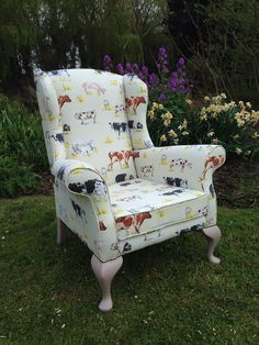 Traditional wing armchair recovered in by RescuedRetroVintage, £795.00
