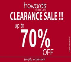 On this Clearance Sale Let's get #Simply Organized with Howards Storage World only at Phoenix Marketcity!! Terms & conditions apply.
