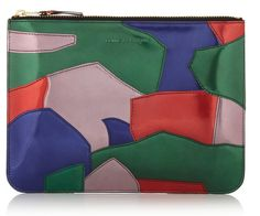 Multi-coloured metallic patchwork leather pouch from Comme Des Garcons.