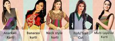 what are the different kinds of kurti - Google Search