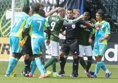 Portland Timbers vs. Seattle Sounders, this rumble was probably my favorite part of this game! So good.
