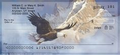 """If you admire the spirit of the American bald eagle, you'll enjoy carrying these """"Eagles Flight"""" personal check designs!"""