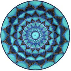Emerald Mandala Round