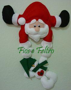 Fios e Feltro: Papai Noel enfeite de porta
