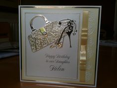Beautiful tattered lace card