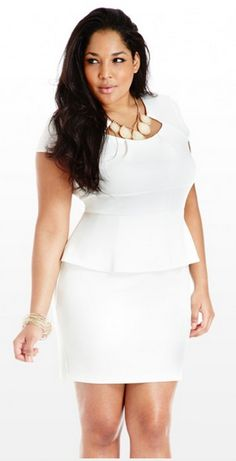 plus size all white outfits - Google Search