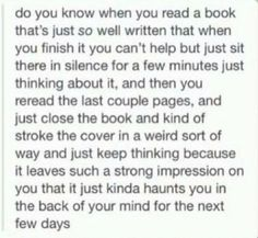 It's called a book hangover