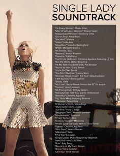 45 Fierce Songs For Single Ladies Everywhere. This is wonderful.