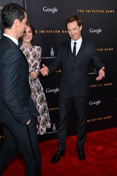 Benedict Cumberbatch, Keira Knightly and Matthew Goode at the premiere of The Imitation Game in New York on 17th November, 2014.