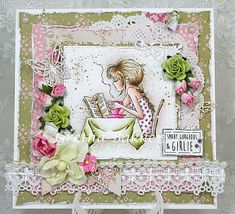 3 gorgeous card designs with the teenage stamps from Lily of the Valley. Gretha magic. Het kaartenhoekje van Gretha