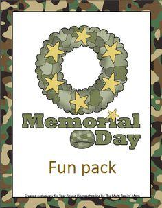 Free Memorial Day Fun Pack - http://www.yearroundhomeschooling.com/free-memorial-day-fun-pack/