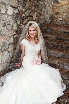 spring romantic bridal bride groom wedding flowers pink lace stone
