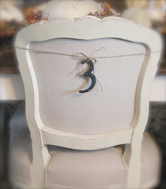 FRENCH COUNTRY COTTAGE~ House numbers for chairs with @Barbara Whitlow Bills McAfee's