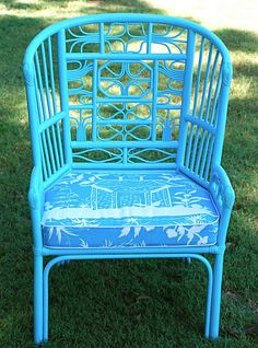 Painted bamboo chairs