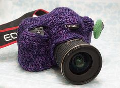 Seriously? How fun and cute! Personalize your camera, and keep it warm for outdoor chilly shoots!