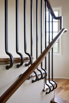 well designed stair railing