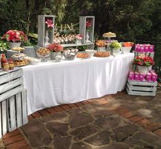 Mesa de dulces centros de mesa decoracion fiestas