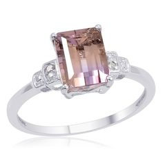 Pix For > Ametrine Engagement Ring