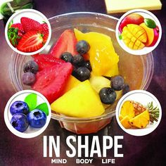 Keep your body energized throughout the day with this great tasting fruit cup: Ingredients include: Pineapples Mango Blueberries and Strawberry. @in.shape.apparel  #INSHAPEAPPAREL by iam_mr.gq