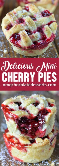 Mini Desserts, Cherry Desserts, Cherry Recipes, Chocolate Desserts, Easy Desserts, Delicious Desserts, Cherry Pie Filling Desserts, Dessert Tarts Mini, Chocolate Cake