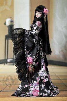1/3Trisection purple sakura kimono - Outfit Angell Studio En