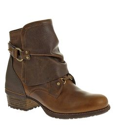 Another great find on #zulily! Oak Shiloh Cuff Leather Bootie by Merrell #zulilyfinds