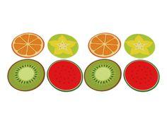 Conjunto Porta Copos Frutas - 8 peças -  -  Dom Gato