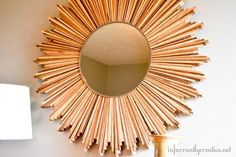 Pretty DIY wood shim starburst mirror tutorial via 'beckerella' Munson 'beckerella' Munson Farrant {infarrantly creative}