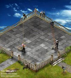 all on deck, love MC Escher type illusion! Escher Kunst, Escher Art, Mc Escher, Optical Illusion Photos, Optical Illusions Pictures, Illusion Pictures, Illusion Kunst, Illusion Art, Eye Tricks