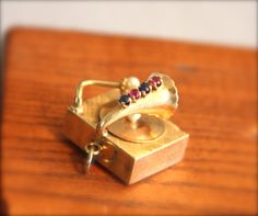 Vintage Antique Solid 14KT Yellow Gold Musical Box by OaksBoutique, $899.00