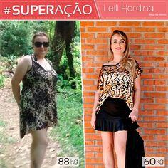 Superação Leili Hordina - Blog da Mimis - Leili emagreceu 28kg em 10 meses, com reeducação alimentar e exercícios.