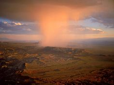 Thunderstorm over the badlands -- National Geographic.