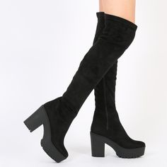 Chunky Boots, Over The Knee Boots, Heeled Boots, Virtual Closet, Shoes  Sandals 97417fb7dd