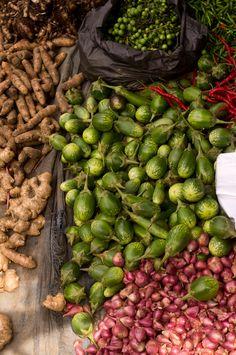 On the market in Bukit Lawang, Sumatra, Indonesia