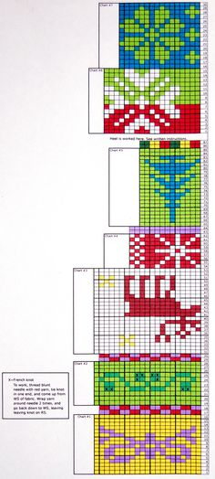 Knitting Chart for Monterey Christmas Stocking