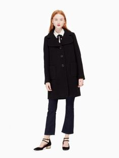 jewel button boucle coat | Kate Spade New York