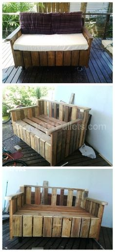 Sofá hecho con pallets