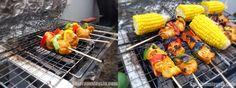 Grilled Chicken Kebabs In My Backyard