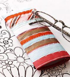 Colorful Ribbon Glasses Case