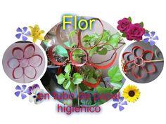 Flores recicladas con tubos o cilindros  de papel higienico - YouTube
