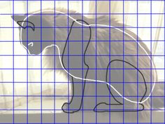 Make a pattern from a picture to do animal paper mache animal patter.