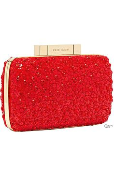 Rosamaria G Frangini | Clutches | ColorDesire RED |  Elie Saab Resort 2014