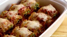 Skinny Lasagna Rolls. This recipe is super easy and delicious!