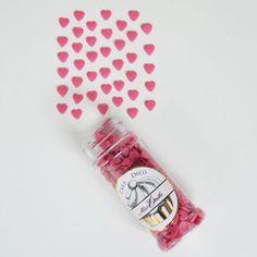 décoration de gateau : coeurs en sucre rose