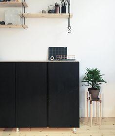 Black painted Ikea 'Ivar'