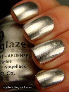 China Glaze Millennium. Silver chrome.